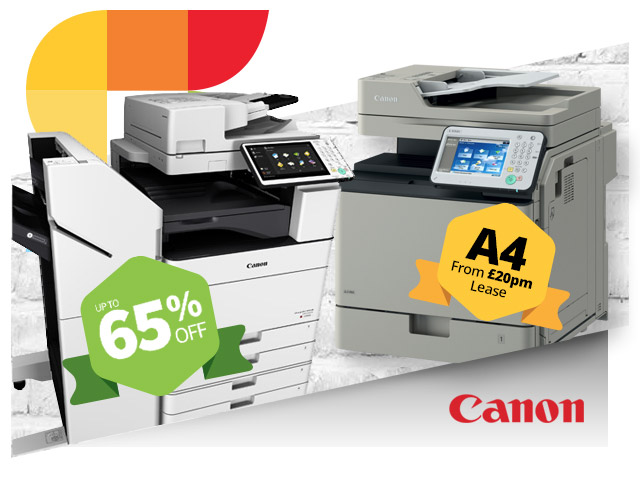 canon up to 65 percent off copiers