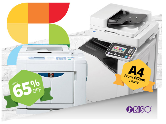 riso up to 65 percent off copiers